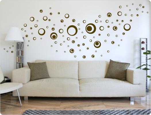 101 Retro Wandtattoo Kreise Dots