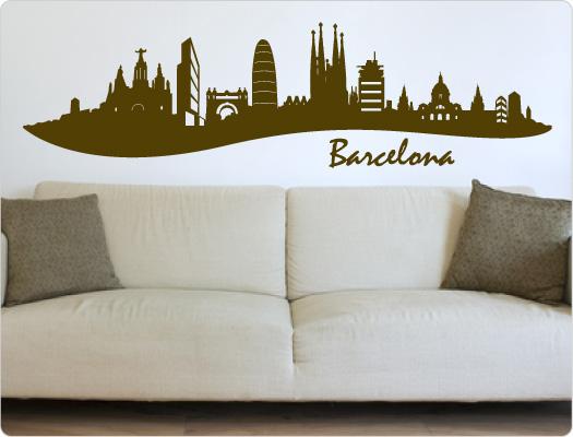 Barcelona Wandtattoo Skyline (Nr.1)