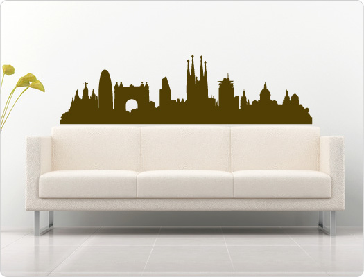 Barcelona Wandtattoo Skyline (Nr.2)