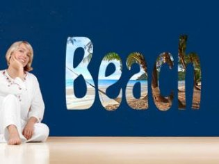 Beach Schriftzug