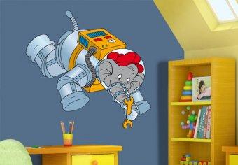 Benjamin als Astronaut