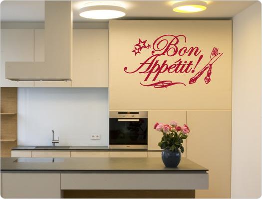 Bon Appetit Wandtattoo Küche