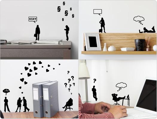 Büro Mini-Wandtattoos