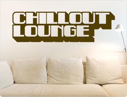 Chillout Lounge Retro Wandtattoo