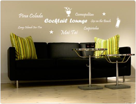 Cocktail Lounge - Wandtattoo Wandaufkleber