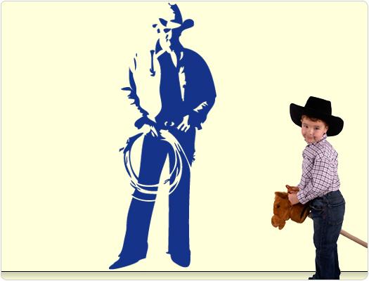 Cowboy - Wandtattoo Wandaufkleber