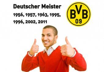Deutscher Meister mit BVB Logo