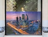 FensterBild Sonnenuntergang über Moskau