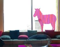 FensterSticker No.IS13 Retro Streifen Zebra V2