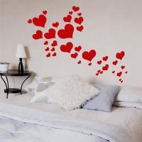 Fliegende Herzen - Wandtattoo