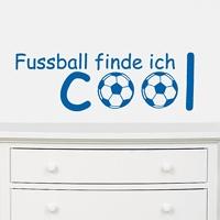 Fussball find ich...- Wandtattoo