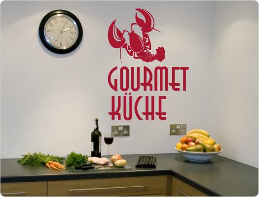 Gourmet-Küche Wandtattoo