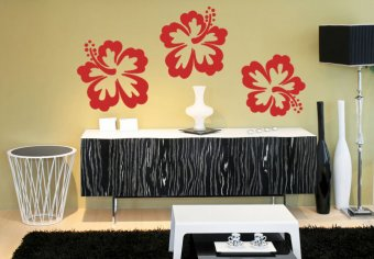 Hibiskus-Blüten 3-er Set