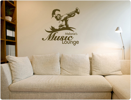 Individuelles Wandtattoo Music Lounge