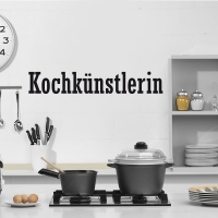 Kochkünstlerin - Wandtattoo
