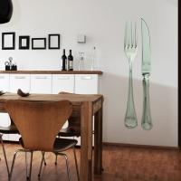 Messer und Gabel Realismus - Wandsticker