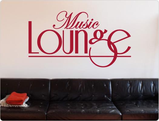 Music Lounge Wandtattoo