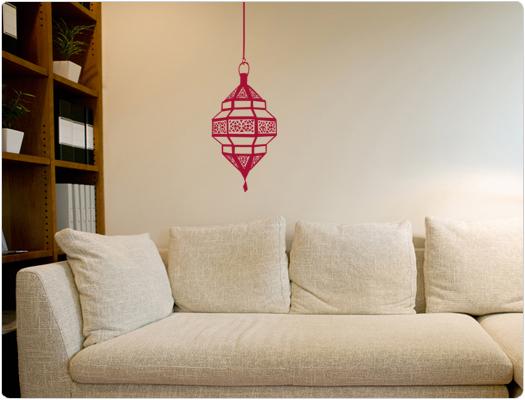 Orientalische Lampe als Wandtattoo