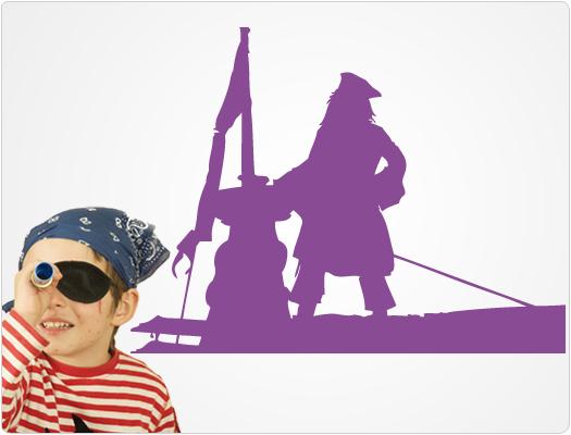 Pirat - Wandtattoo Wandaufkleber