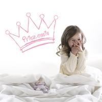 Prinzessin - Wandtattoo
