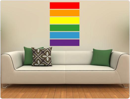 Regenbogenfahne - Wandtattoo Wandaufkleber