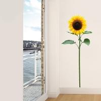 Sonnenblume Realismus - Wandtattoo