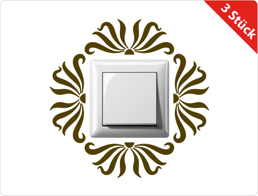 Steckdose-Lichtschalter Wandtattoo (Motiv 1)
