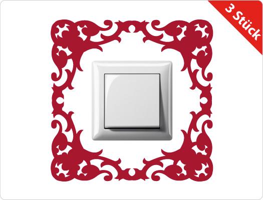 Steckdose-Lichtschalter Wandtattoo (Motiv 3)