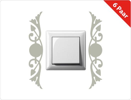 Steckdose-Lichtschalter Wandtattoo (Motiv 4)