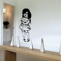 Street Art Girl - Wandtattoo