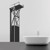Turmspringer- Wandtattoo