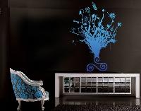 WandTattoo No.228 Blaues Blumenwunder