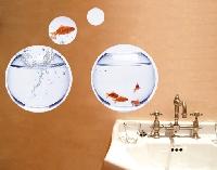 WandTattoo No.246 Flying Goldfish Circles