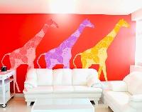WandTattoo No.397 Three Decostyle Giraffes Set I