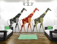 WandTattoo No.398 Three Decostyle Giraffes Set II