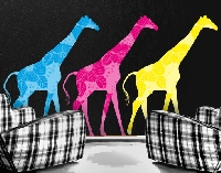 WandTattoo No.400 Three Decostyle Giraffes Set III