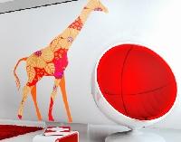 WandTattoo No.401 Red Decostyle Giraffe