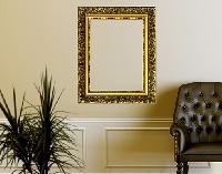 WandTattoo No.437 Goldener Rahmen III