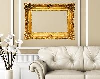 WandTattoo No.438 Goldener Rahmen V