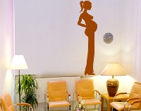 WandTattoo No.453 Pregnant Silhouette