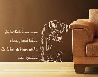 WandTattoo No.AU18 Rühmann Hund