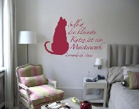 WandTattoo No.BR115 Da Vinci Katze