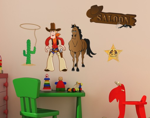 Wandsticker Cowboy Set