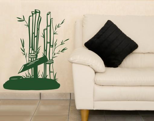 Wandtattoo Bambus-Bündel