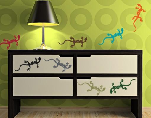 Wandtattoo Gecko-Set ( 20 Geckos )