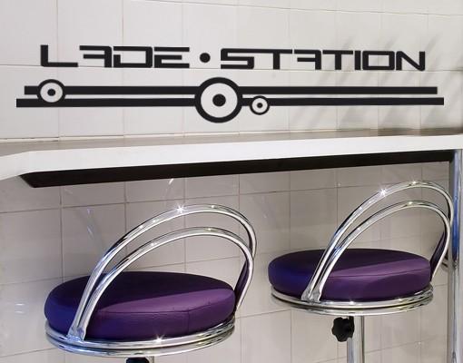 Wandtattoo Lade-Station