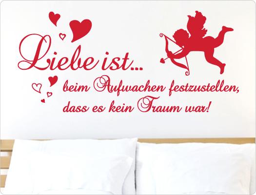 Wandtattoo Liebe ist... beim Aufwachen