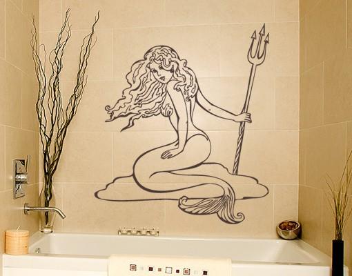 Wandtattoo Meerjungfrau