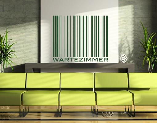 Wandtattoo Wartezimmer