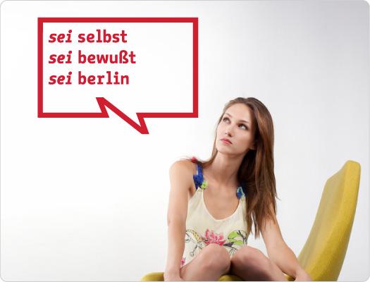 be Berlin Wandtattoo (Leben 1)
